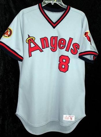 Bob Boone S 1985 California Angels Game Worn Road Jersey 8