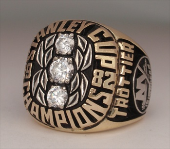 """1982 New York Islanders """"Stanley Cup"""" Champions 10K Gold Ring"""